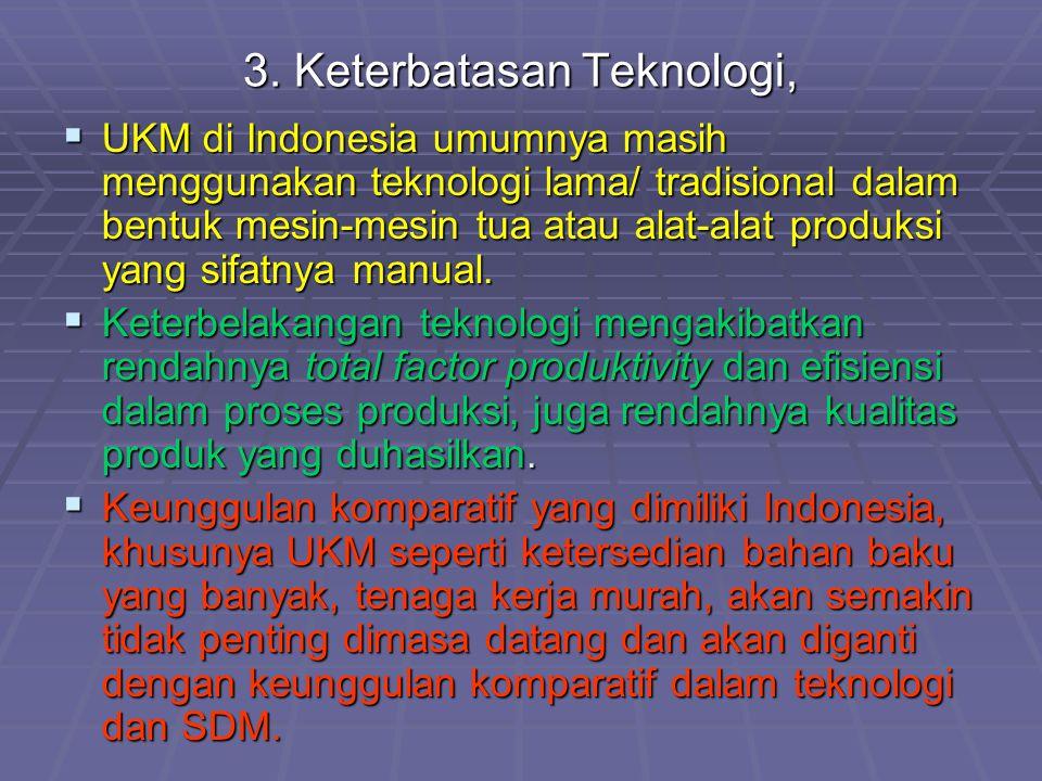 3. Keterbatasan Teknologi,