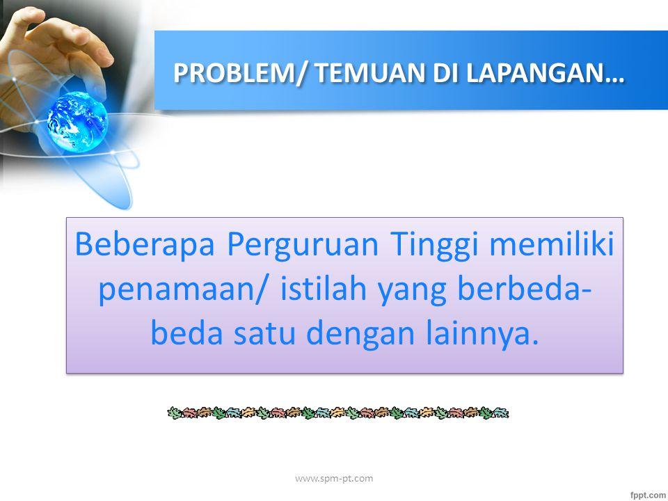 PROBLEM/ TEMUAN DI LAPANGAN…