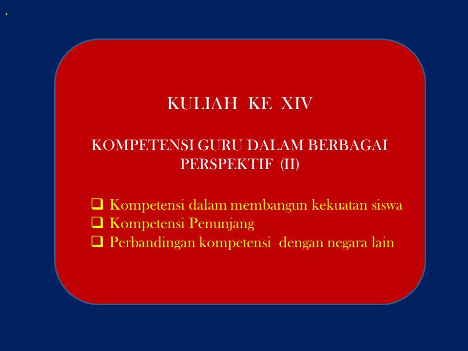 KOMPETENSI GURU DALAM BERBAGAI PERSPEKTIF (II)