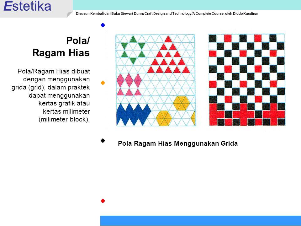 Estetika Pola/ Ragam Hias Pola/Ragam Hias dibuat dengan menggunakan