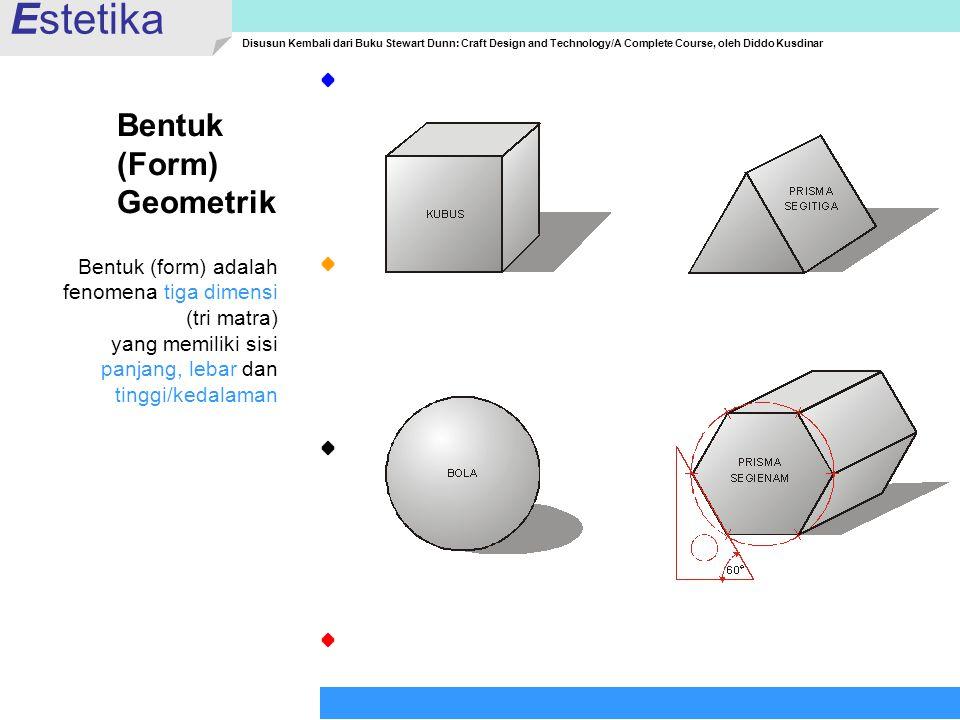 Estetika Bentuk (Form) Geometrik Bentuk (form) adalah
