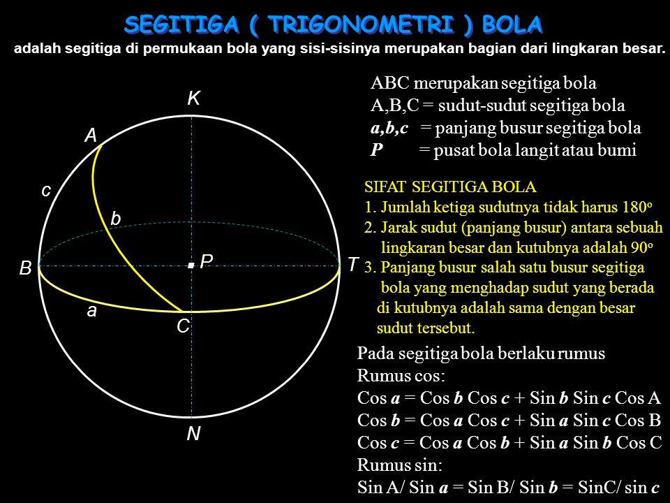 SEGITIGA ( TRIGONOMETRI ) BOLA
