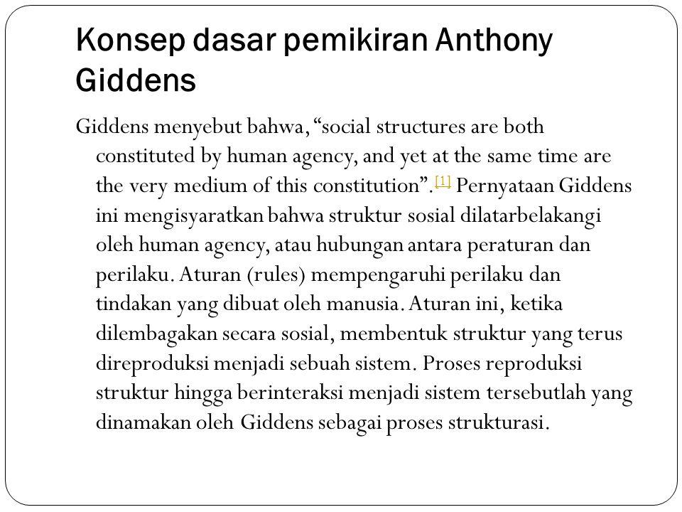 Konsep dasar pemikiran Anthony Giddens