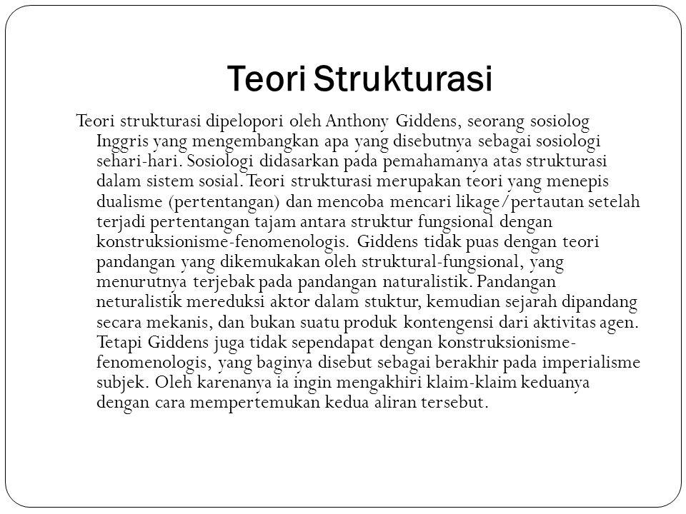 Teori Strukturasi