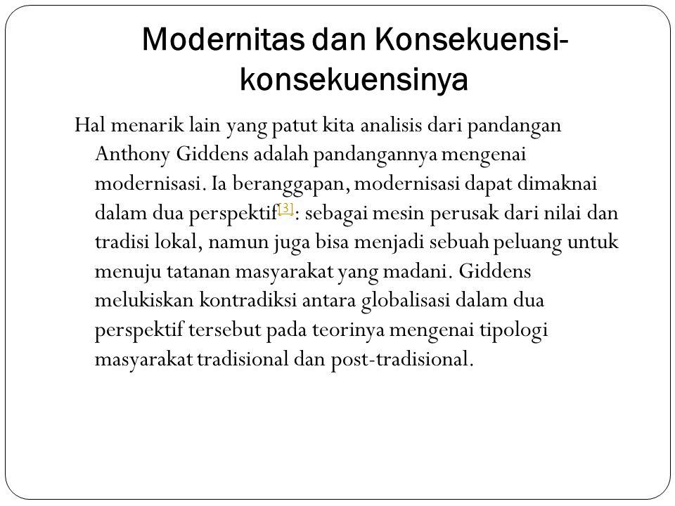 Modernitas dan Konsekuensi-konsekuensinya