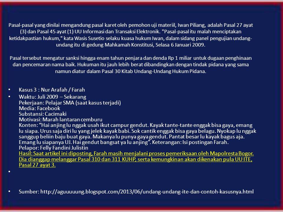 Kasus 3 : Nur Arafah / Farah