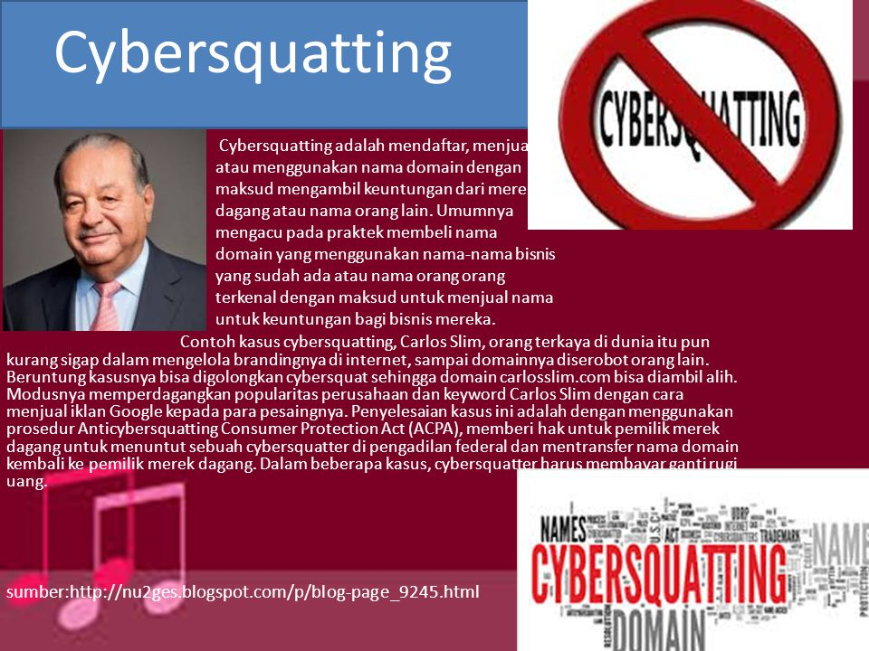 Cybersquatting sumber: