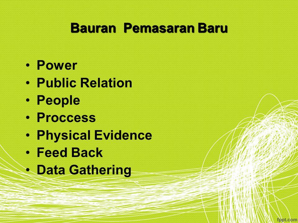 Bauran Pemasaran Baru Power Public Relation People Proccess