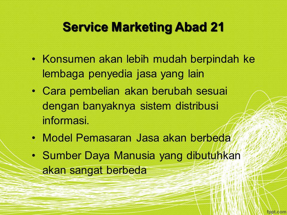 Service Marketing Abad 21