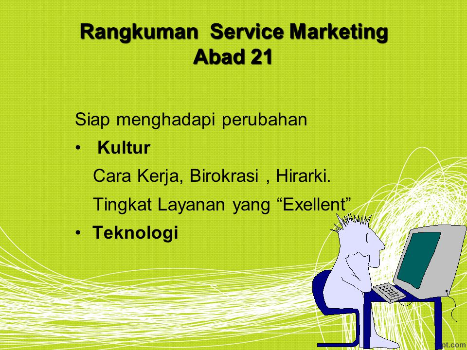 Rangkuman Service Marketing Abad 21