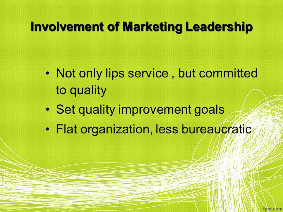 Involvement of Marketing Leadership