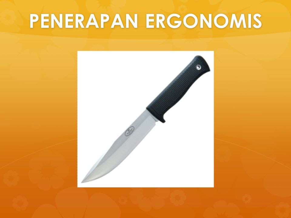 PENERAPAN ERGONOMIS