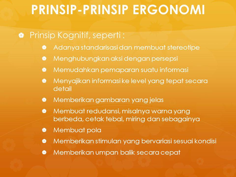 PRINSIP-PRINSIP ERGONOMI