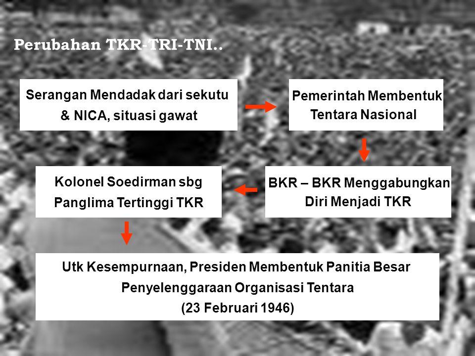 Perubahan TKR-TRI-TNI..