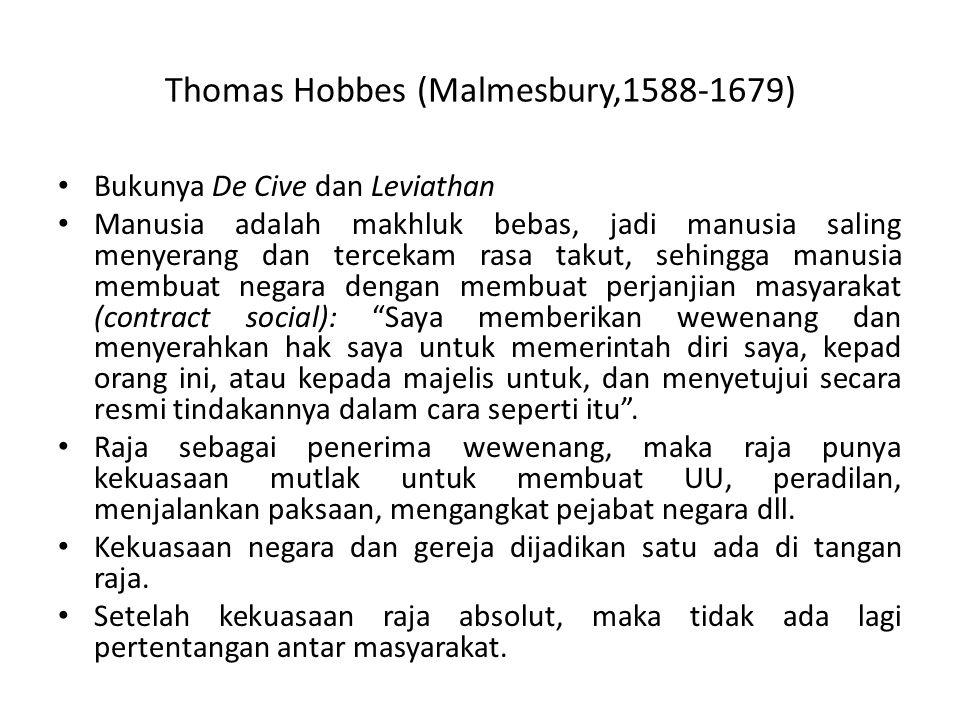 Thomas Hobbes (Malmesbury,1588-1679)