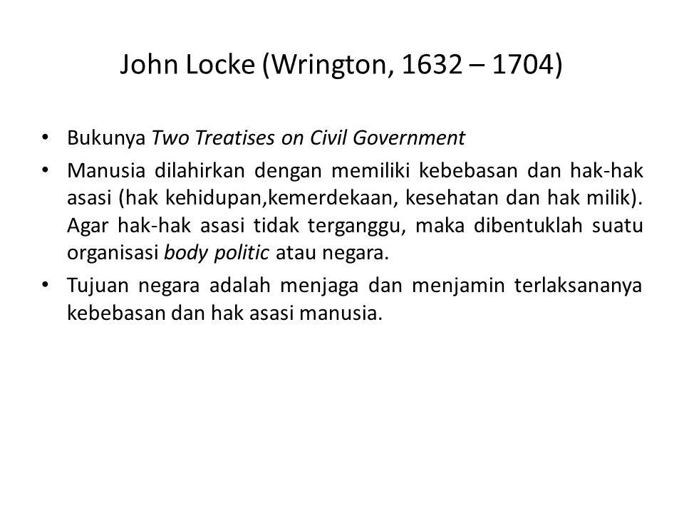 John Locke (Wrington, 1632 – 1704)