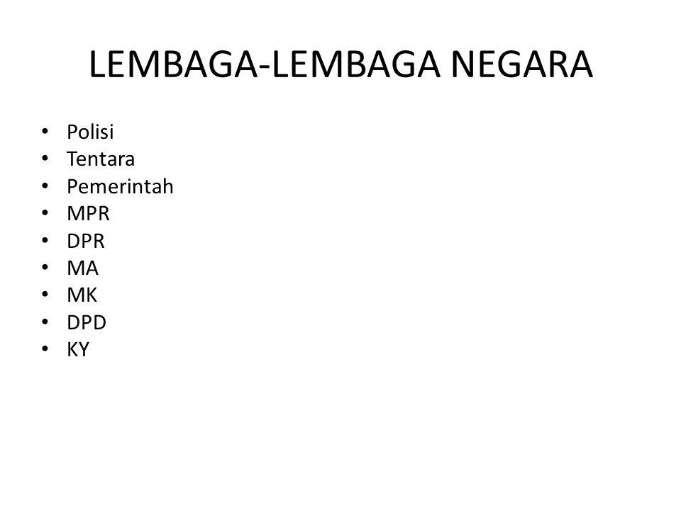 LEMBAGA-LEMBAGA NEGARA