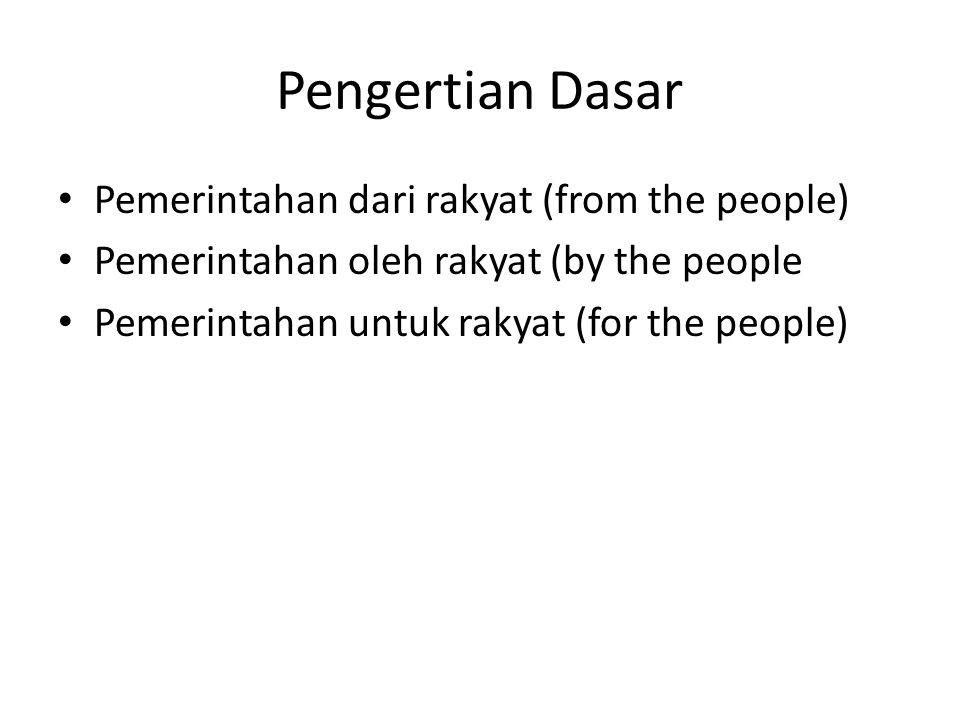 Pengertian Dasar Pemerintahan dari rakyat (from the people)