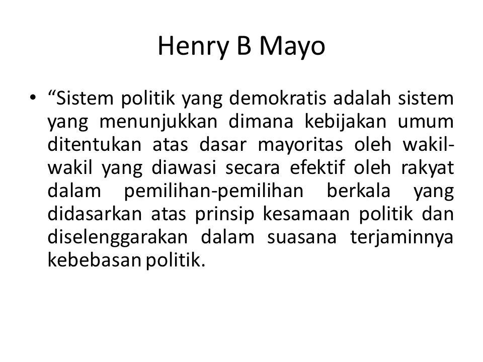 Henry B Mayo