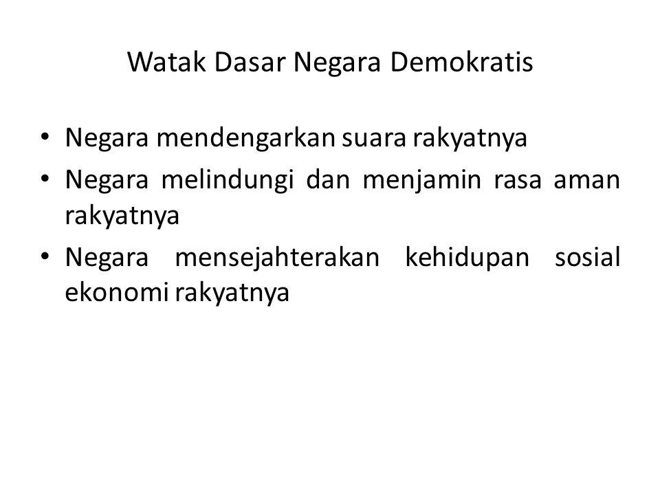 Watak Dasar Negara Demokratis