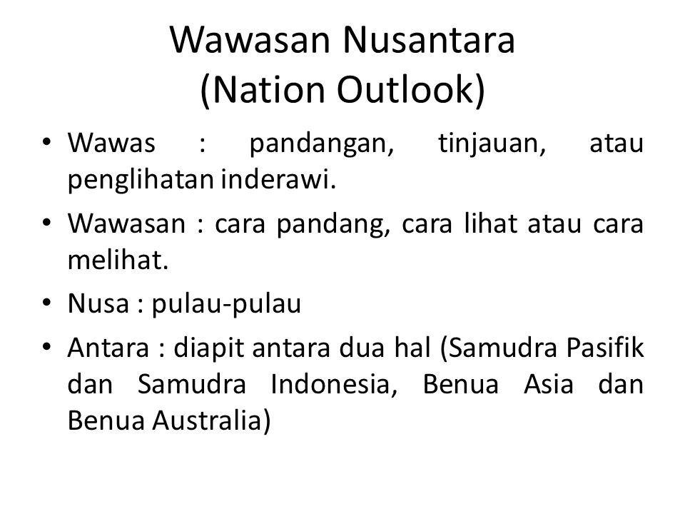 Wawasan Nusantara (Nation Outlook)