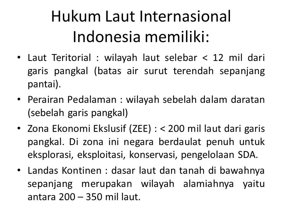 Hukum Laut Internasional Indonesia memiliki: