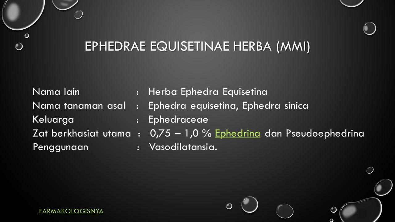 EPHEDRAE EQUISETINAE HERBA (MMI)