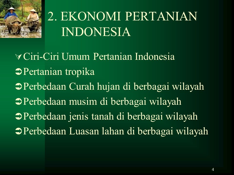2. EKONOMI PERTANIAN INDONESIA