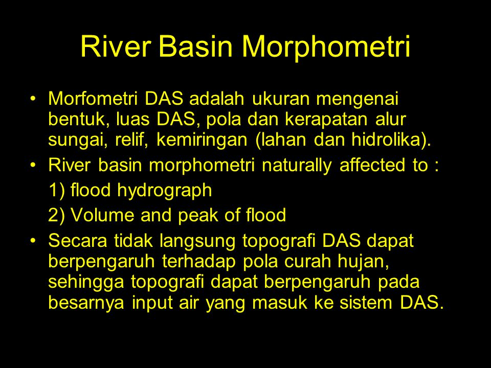 River Basin Morphometri