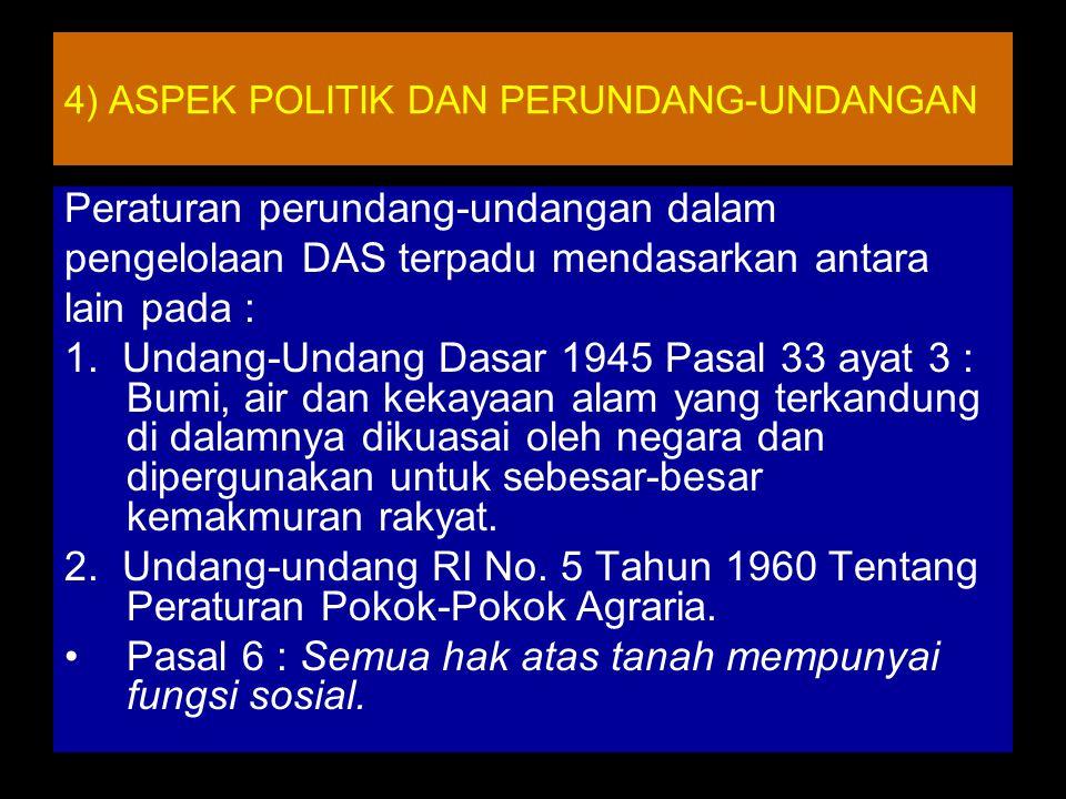 4) ASPEK POLITIK DAN PERUNDANG-UNDANGAN