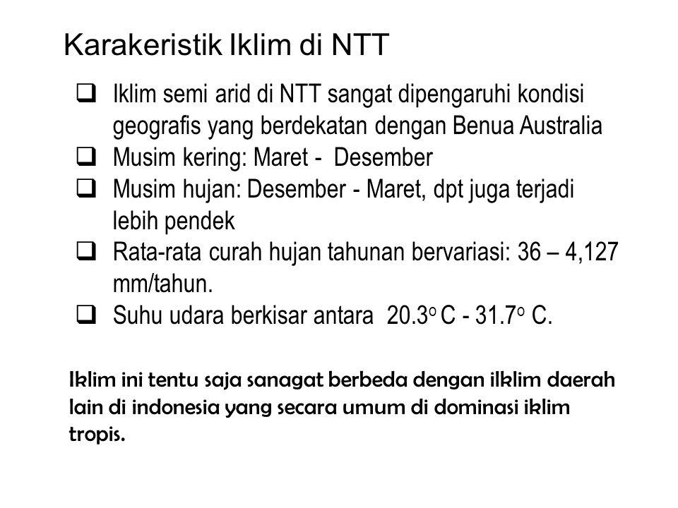 Karakeristik Iklim di NTT