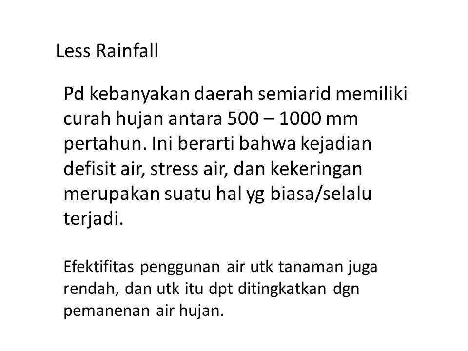 Less Rainfall