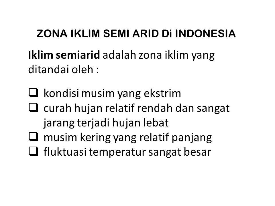 ZONA IKLIM SEMI ARID Di INDONESIA