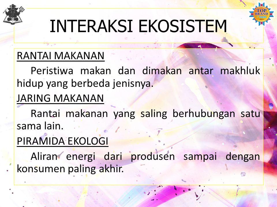 INTERAKSI EKOSISTEM
