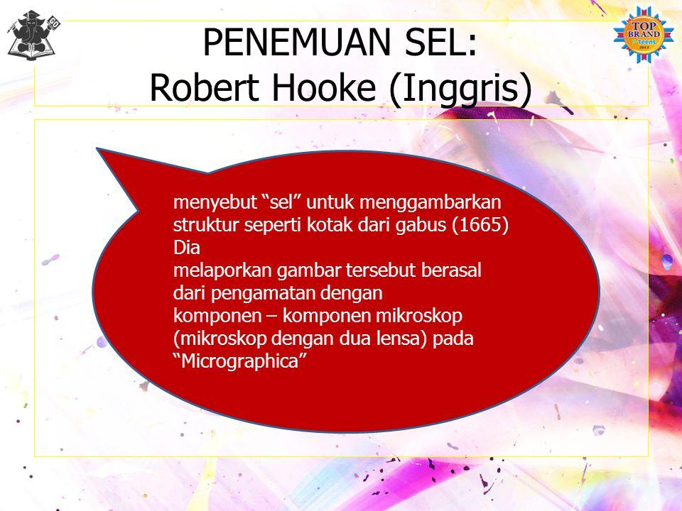 PENEMUAN SEL: Robert Hooke (Inggris)