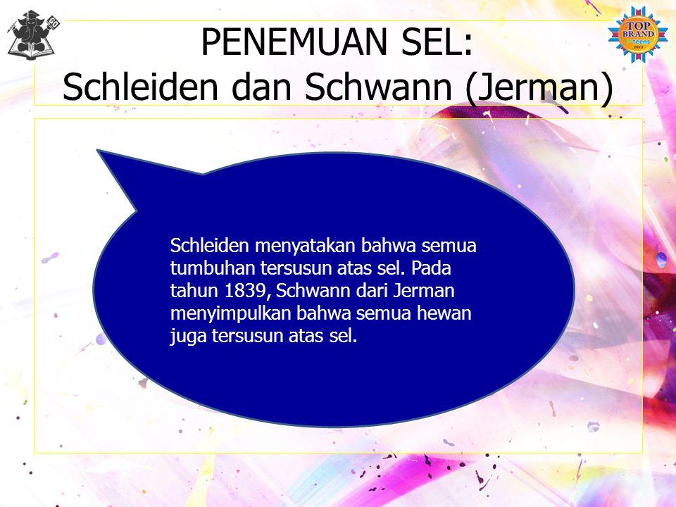 PENEMUAN SEL: Schleiden dan Schwann (Jerman)