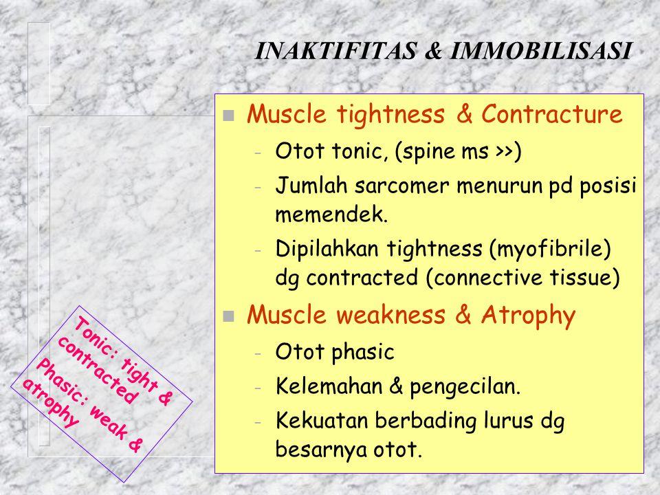 INAKTIFITAS & IMMOBILISASI