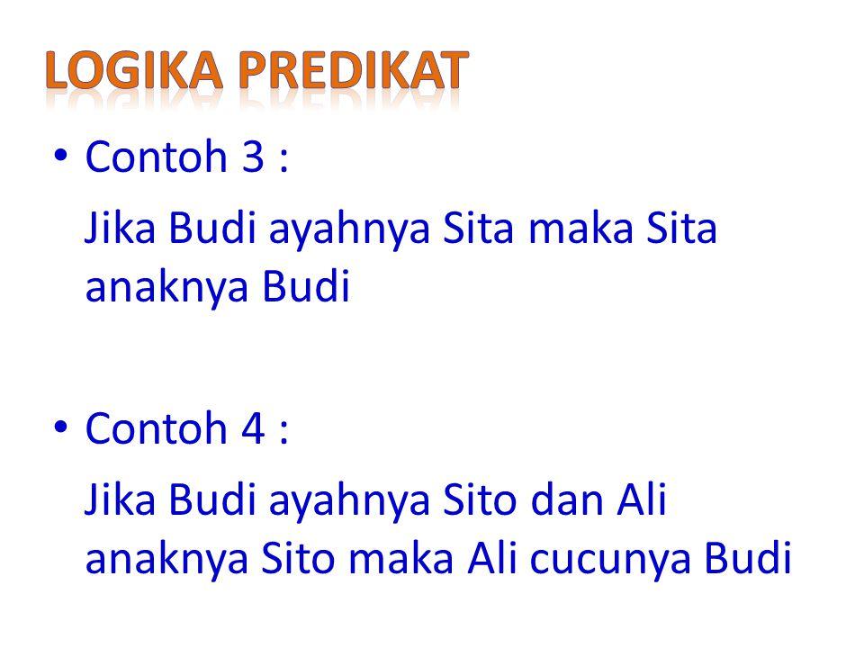 Logika predikat Contoh 3 :