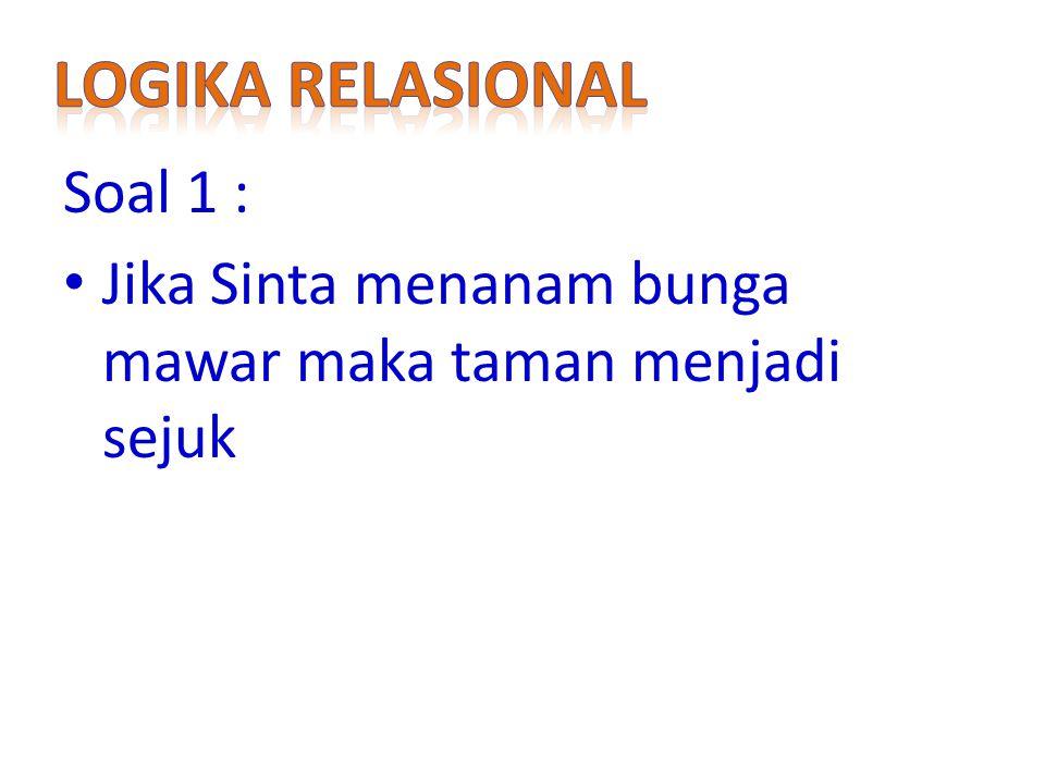 Logika relasional Soal 1 :