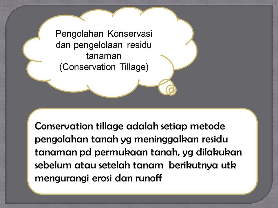 Pengolahan Konservasi dan pengelolaan residu tanaman (Conservation Tillage)
