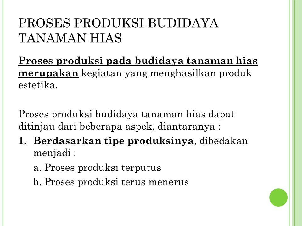 PROSES PRODUKSI BUDIDAYA TANAMAN HIAS