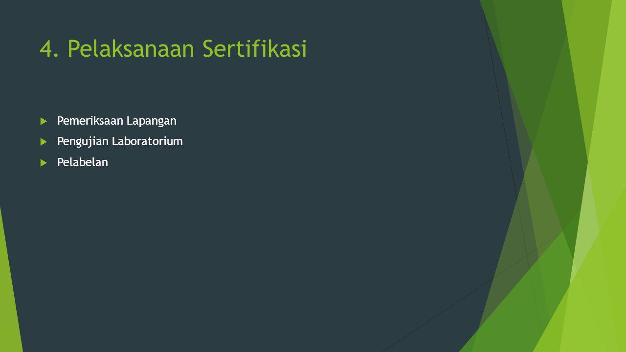 4. Pelaksanaan Sertifikasi