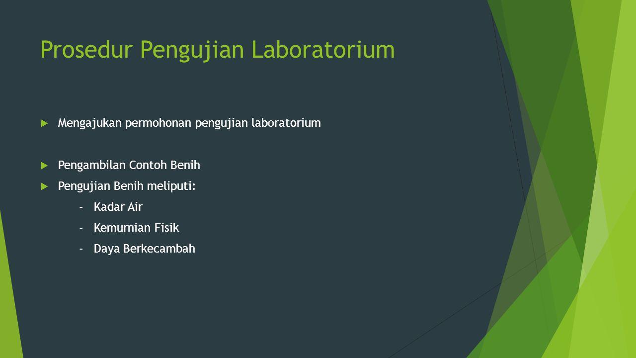 Prosedur Pengujian Laboratorium