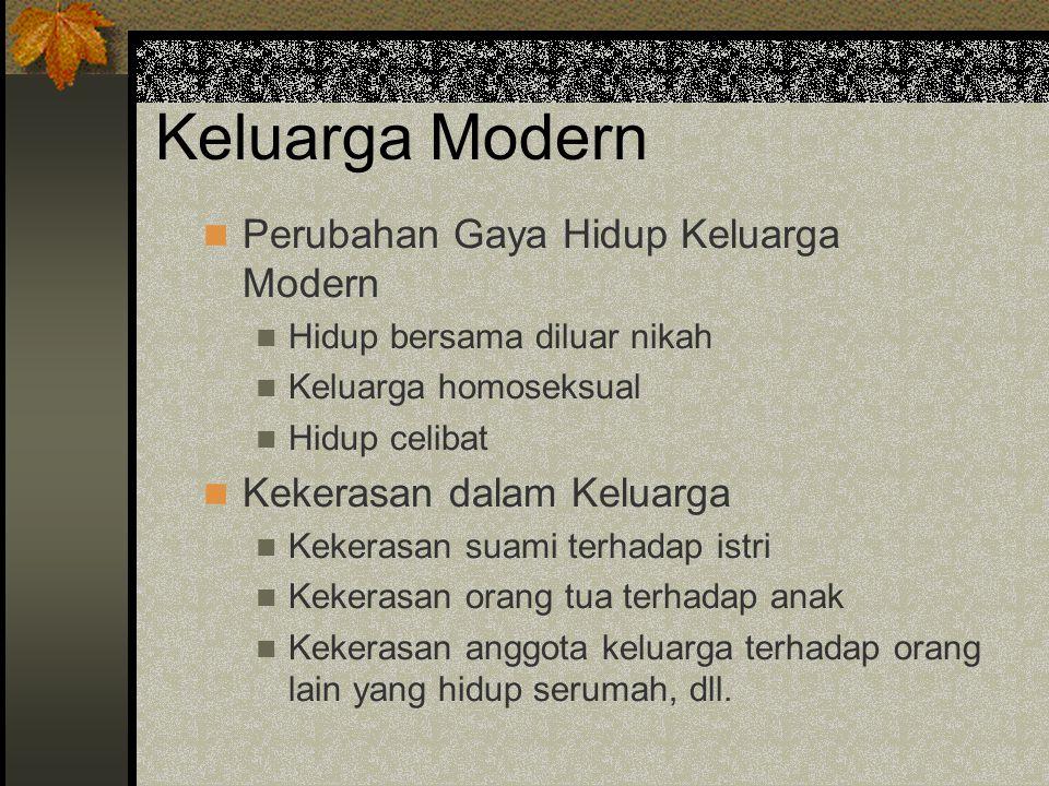 Keluarga Modern Perubahan Gaya Hidup Keluarga Modern