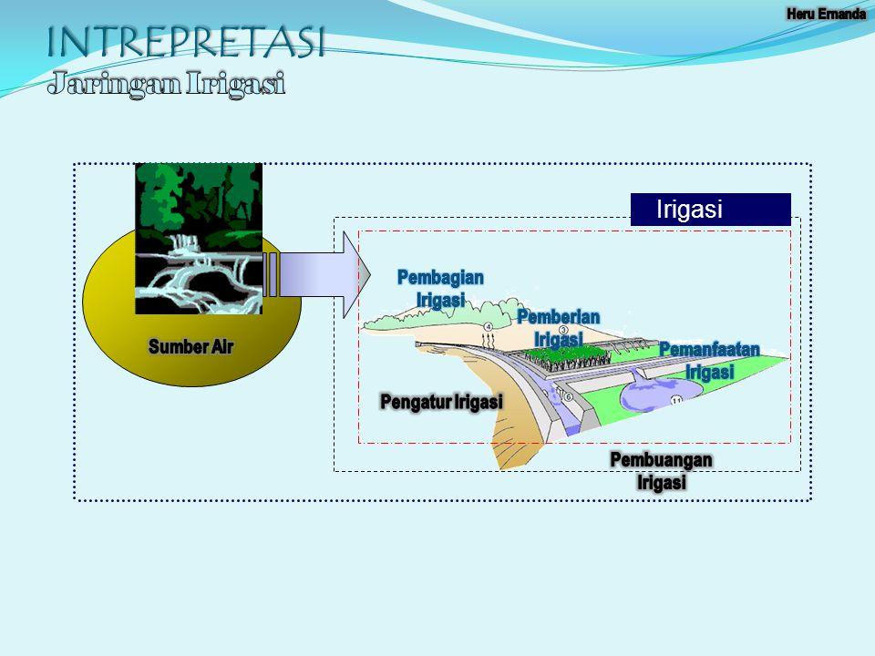 INTREPRETASI Jaringan Irigasi Irigasi Pembagian Irigasi Sumber Air