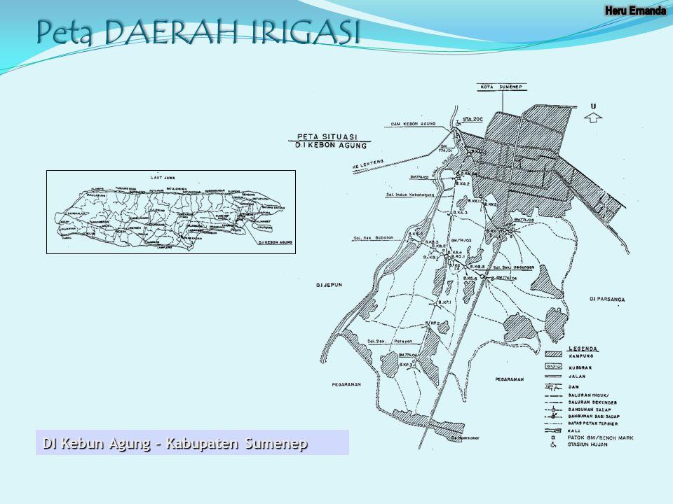 Peta DAERAH IRIGASI DI Kebun Agung - Kabupaten Sumenep