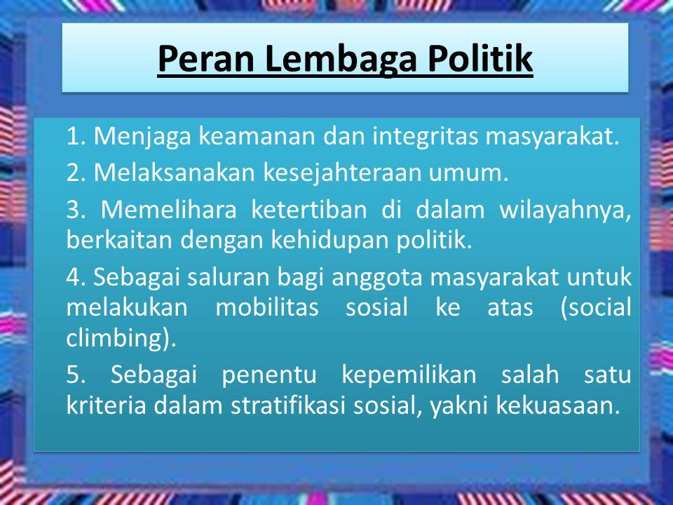 Peran Lembaga Politik