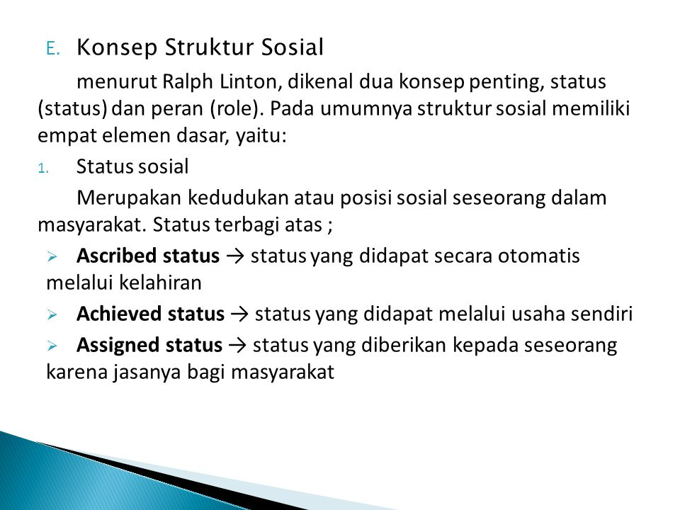 Konsep Struktur Sosial