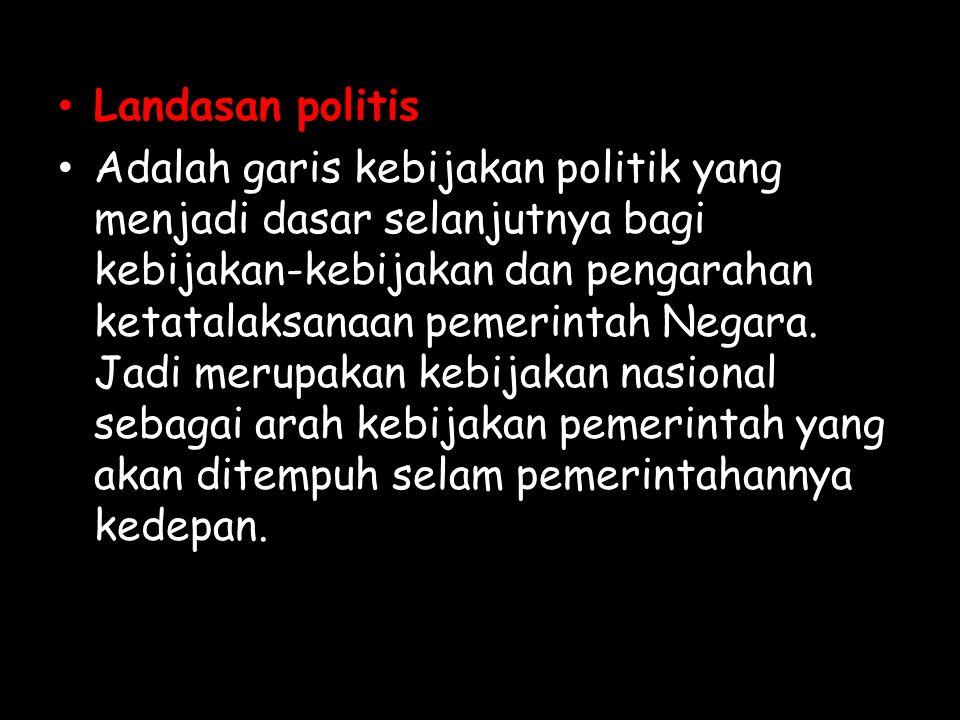 Landasan politis