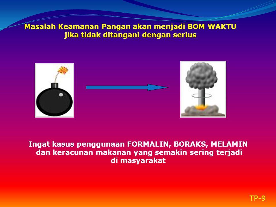 Ingat kasus penggunaan FORMALIN, BORAKS, MELAMIN